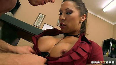 Kayla Carrera blowjob on the floor pov