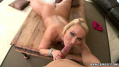 Milf Melanie Monroe reaching to sucking dick and then sit on it